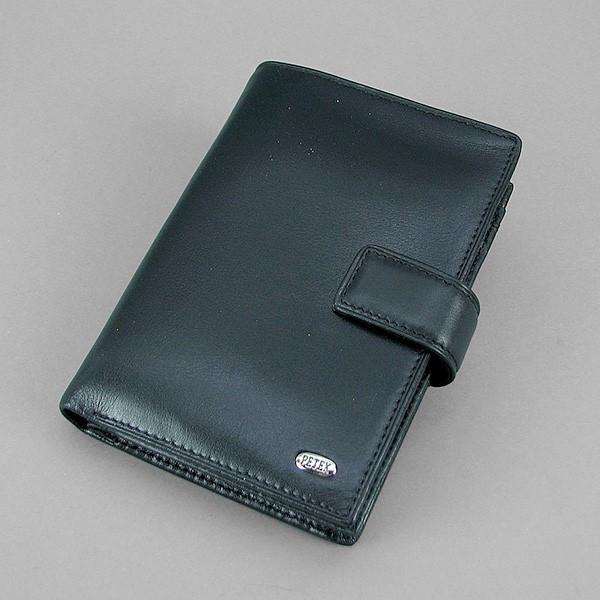 Кошелек мужской кожаный черный Petek 1701