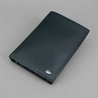 Кошелек мужской кожаный черный удостоверение Petek, фото 1