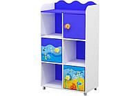 """Детский книжный  шкаф """"Ocean OD-04-2"""" Дорис"""