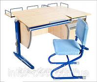 Стол СУТ.17.04 + Тумба навесная ТСН.01-01 + Стол СУТ.17.04 + Тумба навесная ТСН.01-01 + Полка задняя СУТ.15.21
