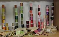 Натуральная шелковая лента, окрашенная вручную, 4 мм., фото 1