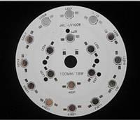 Алюминиевая плата радиатор для LED 18 шт. 1-3W, фото 1