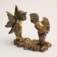 Ангелочки Поцелуйчик / Статуэтка Металл 4x2x4 см