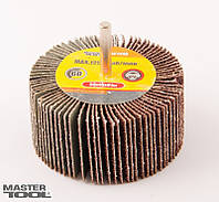 Круг шлифовальный лепестковый зерно 80, 60*30 мм со стержнем 6 мм
