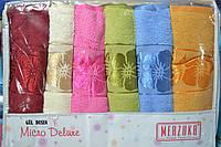 Комплект банных махровых полотенец Merzuka Mikro Deluxe Хлопок 70х140 (6шт.) - Турция