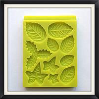 Молд силиконовый Листья (роза, плющ, омела ), фото 1