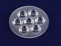 LED линза для светодиодов 7 шт. 1W и 3W, фото 1