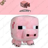 """Игрушка из Minecraft - """"Свинка"""" - 16 х 12 см."""