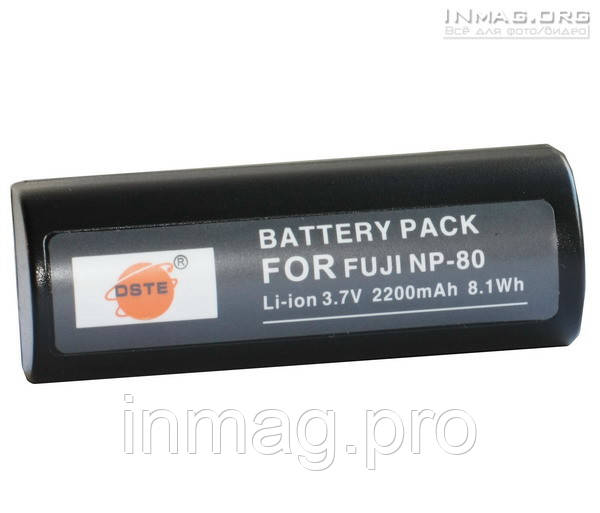 Аккумулятор для фотоаппарата Fujifilm NP-80, 2200 mAh.