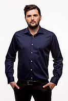 Мужская рубашка MaryMaks, синяя, Regular fit, 023