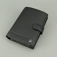 Кошелек мужской кожаный черный (документы, права) Rocco Barocco, фото 1
