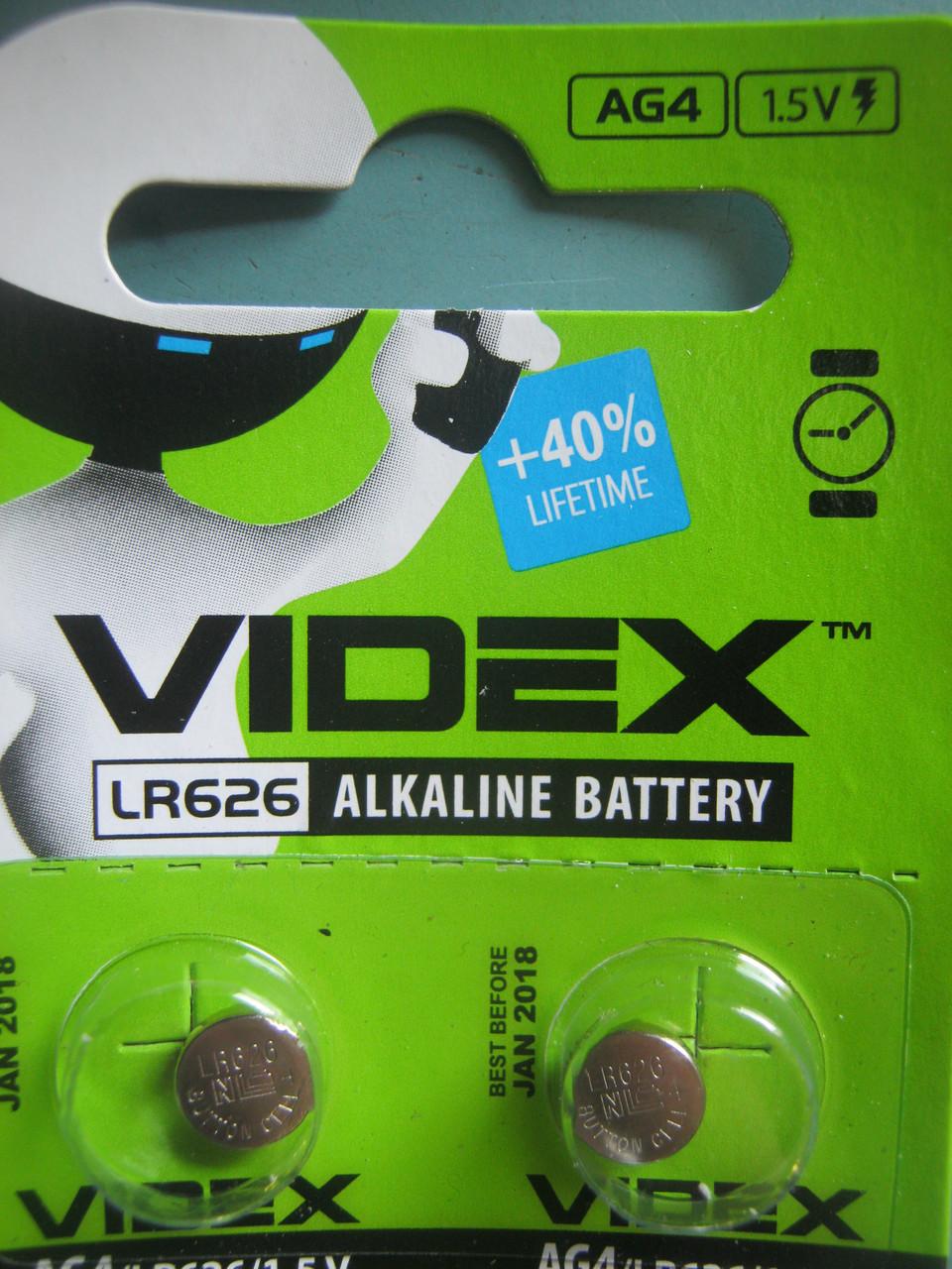 Батарейка часовая Videx  AG 4 (LR521) blister card 10 pc