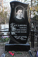 Памятник гранитный одинарный тюльпан
