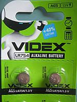 Батарейка часовая Videx AG 5 (LR754) blister card 10 pc