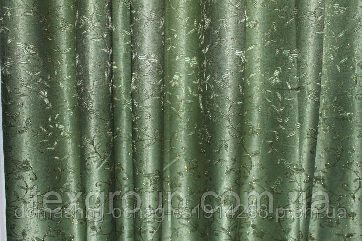 Штора Ландыш зелёная 2,80м
