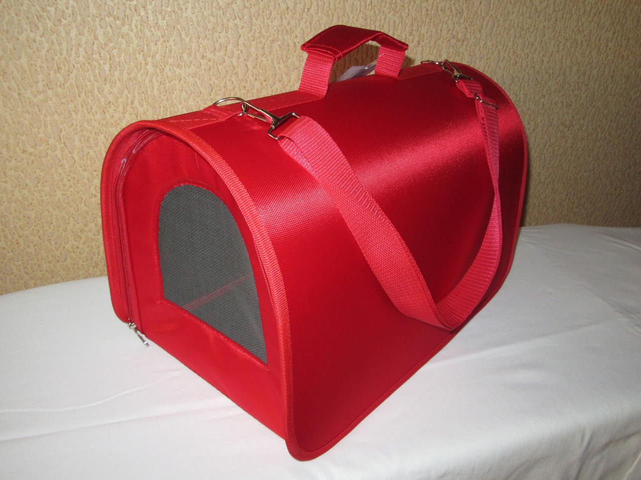 Сумка-переноска (тоннель) 34,5х22х21см, красная