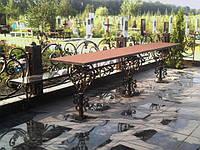"""Кованые стол и лавка на кладбище. Эксклюзивная ручная ковка. Покраска супер эмалью """"Alpina""""."""