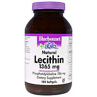 Bluebonnet Nutrition, Природный лецитин 180 гелевых капсул