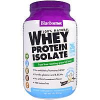 Bluebonnet Nutrition, На 100% натуральный изолят сывороточного протеина, натуральная французская ваниль, 2 фун
