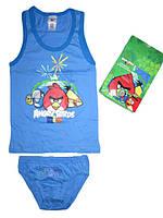 Комплект нижнего белья  для мальчиков Angry Birds размеры 4/6,7/8,10/12, атр 730-886