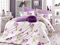 Комплект постельного белья Majoli Bahar teksil Natalie v3 Lila двухспальное