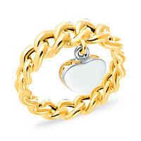 Оригинальное золотое кольцо с подвеской