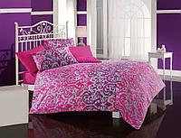 Комплект постельного белья Cotton Box Bihter Fusya двухспальное, цветной рисунок, Сатин, Турция, Оригинальное. семейное, Сатин