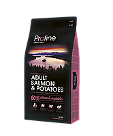 Корм для собак Profine Adult Salmon 15 кг лосось и картофель, профайн гипоалергенный