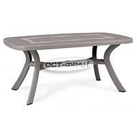 Стол Toscana 165x95 серый с узором