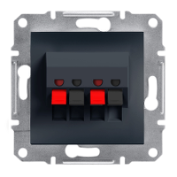 Аудиорозетка двойная Антрацит Asfora Schneider Electric, EPH5700171