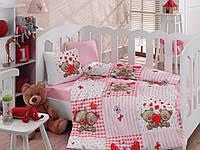 Комплект постельного белья Cotton Box для новорожденных Yumi Kahve 100*150