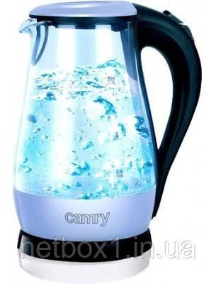 Чайник Camry CR 1251 blue стекло, фото 2