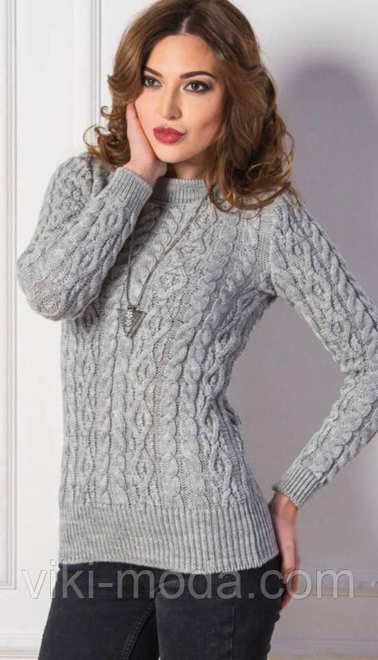 Вязаный свитер Люкс темно-серый