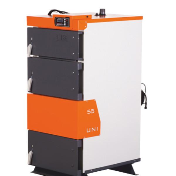 Твердотопливный котел  TIS UNI 75 (750 кв,м,) с автоматикой - OptMan - самые низкие цены в Украине в Харькове
