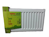 Стальной радиатор Terra Teknik 300x1000 боковое подключение (22 тип) 1173 Ват