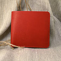 Кожаное портмоне П5-07 (красное)