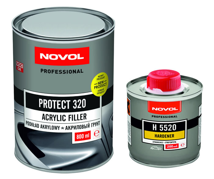 NOVOL PROTECT 320 - АКРИЛОВЫЙ ГРУНТ 0,8л.+ 0,2л.