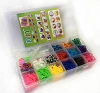 Набор резинок для плетения 14 цветов Diy bracelet в пластиковой коробке