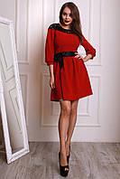 Супер модное платье с атласным поясом