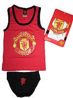 Комплект нижнего белья  для мальчиков Manchester United  размеры 6/8,9/10,11/12, атр 730-894