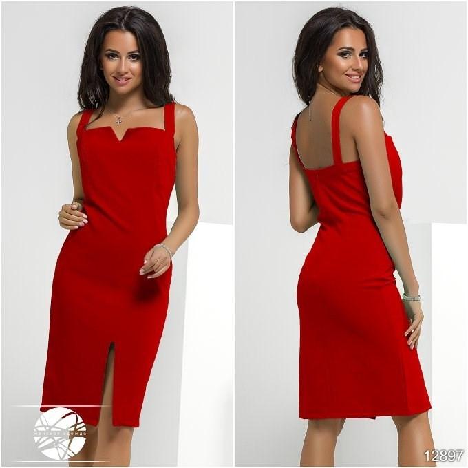 342446ddc5d Купить Красное платье на бретелях. Модель 12897. в Одессе