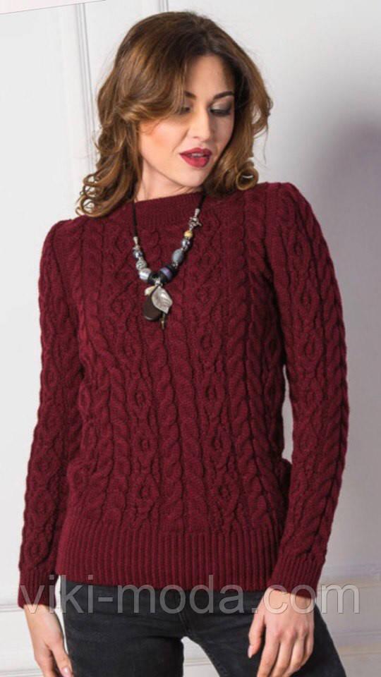 Вязаный свитер Люкс светло-розовый