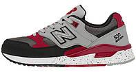 Мужские кроссовки New Balance 530 (Нью Баланс) серые/черные/красные