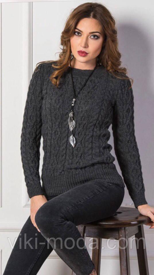 Вязаный свитер Люкс бордовый