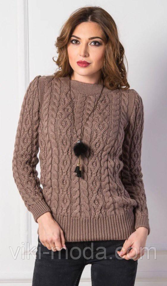Вязаный свитер Люкс пудровый