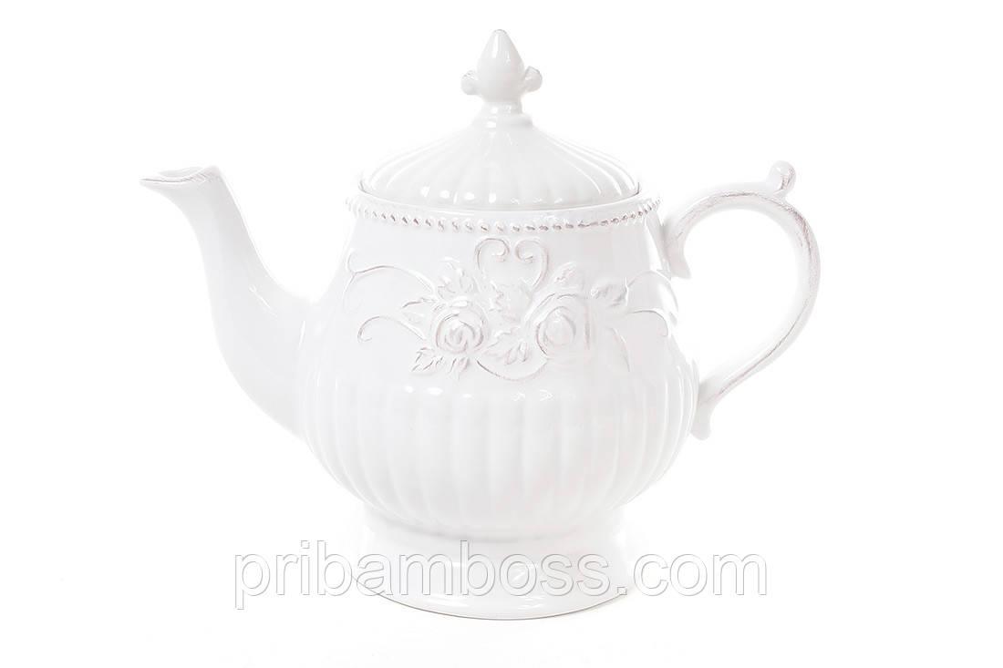 Чайник керамический Розы 1.3л.