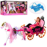 Карета 689Y с куклой, лошадью и аксессуарами