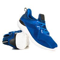 Модные женские синие кроссовки беговые