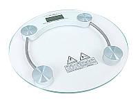 Весы электронные напольные бытовые стеклянные круглые JKC-2