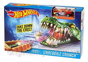 Игровой трек Hot Wheels Город Чудовищ , Схватка с крокодилом